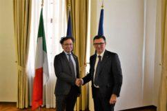 Visita a Praga del Sottosegretario allo Sviluppo economico Michele Geraci